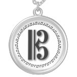 Alto or Tenor Clef Music Note Design C Clef Round Pendant Necklace