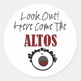 Alto Round Sticker
