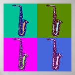 Alto Saxophone Pop Art Print