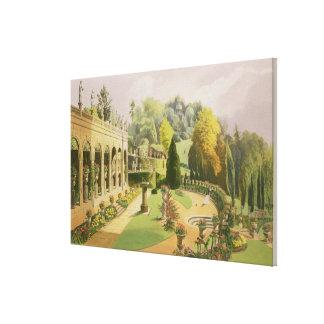 Alton Gardens, from 'The Gardens of England', 1857 Canvas Print