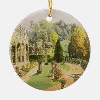 Alton Gardens, from 'The Gardens of England', 1857 Christmas Ornament