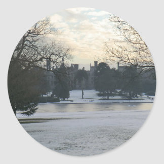 Alton Towers in the Snow Round Sticker