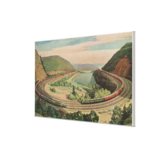Altoona, Pennsylvania, The Famous Horseshoe Curv Canvas Print
