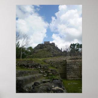 Altuna Ha Mayan Ruins Poster