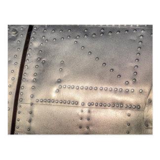 Aluminium Aircraft Skin Postcard