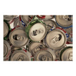 Aluminium cans, recycled