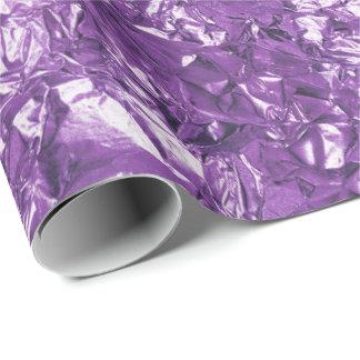 Aluminium Foil Amethyst Purple Metallic Wrinkled Wrapping Paper
