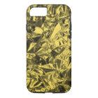Aluminium Foil Design in Golden Yellow iPhone 8/7 Case