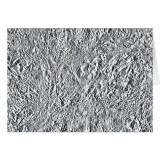 Aluminium foil effect design card