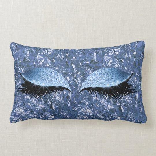 Aluminium Metallic Winkled Blue Makeup Eye Lashes Lumbar