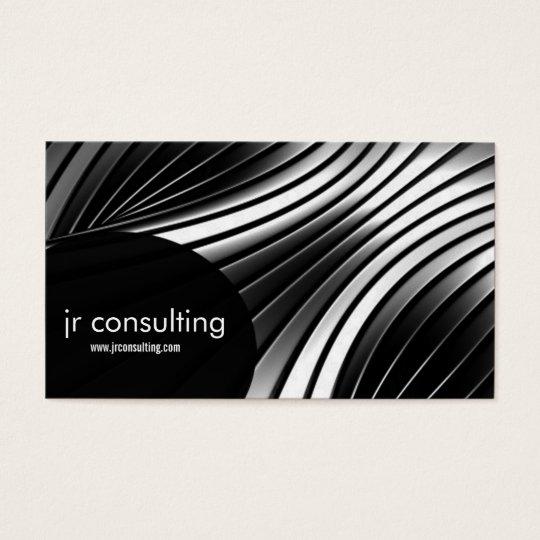 aluminium stripes abstract business card