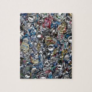Aluminum Cans Being Recycled Jigsaw Puzzle