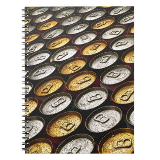 Aluminum cans notebook