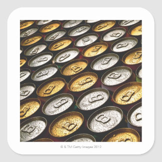 Aluminum cans square sticker