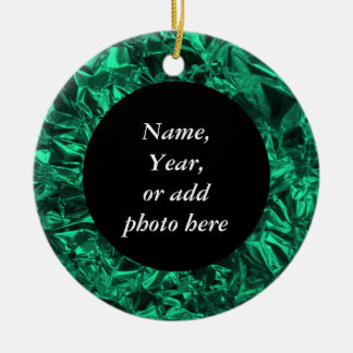 Aluminum Foil Design in Teal Christmas Ornament