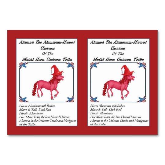 Alumna the Aluminium Horned Unicorn Trading Card