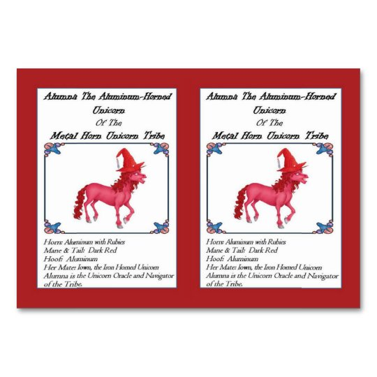 Alumna the Aluminium Horned Unicorn Trading Card Table Card