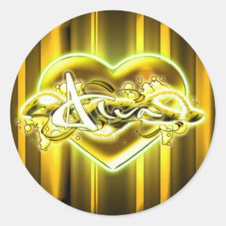 Alva Round Sticker