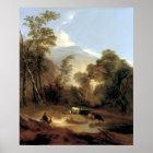 Alvan Fisher Pastoral Landscape Poster