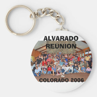 ALVARADO REUNION, COLORADO 2006 BASIC ROUND BUTTON KEY RING