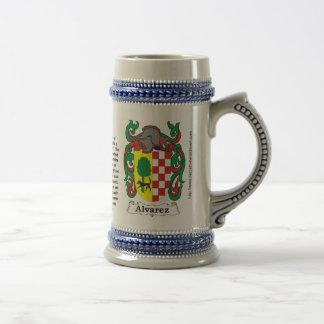 Alvarez Family Coat of Arms Stein Mug