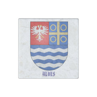 Alves Family Coat of Arms Stone Magnet