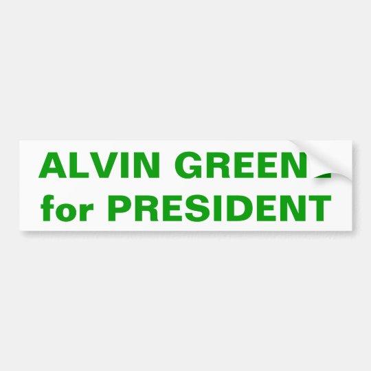 ALVIN GREENE for PRESIDENT Bumper Sticker