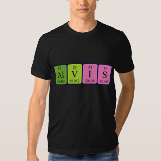 Alvis periodic table name shirt