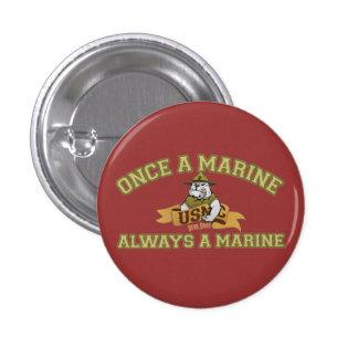 Always A Marine 3 Cm Round Badge