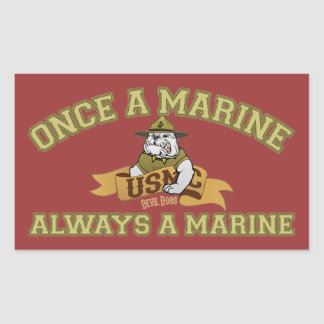 Always A Marine Rectangular Sticker