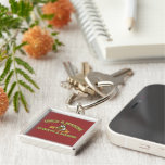 Always A Marine Silver-Colored Square Key Ring