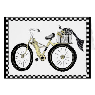 Always a Picnic Yellow Bicycle Card