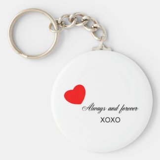 Always and forever basic round button key ring
