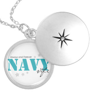 Always and Forever - Navy Wife Round Locket Necklace