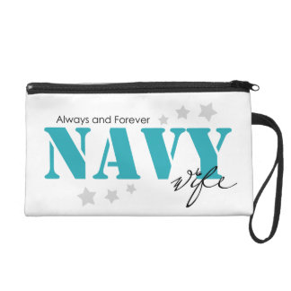 Always and Forever - Navy Wife Wristlet Clutch