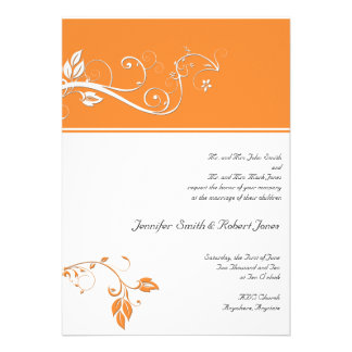 Always and Forever Orange Personalized Invites