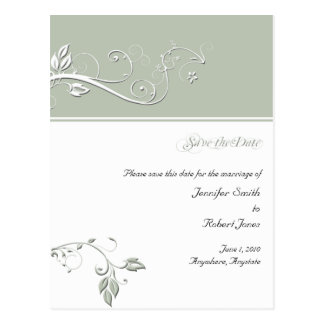 Always and Forever Pearled Grey Postcard