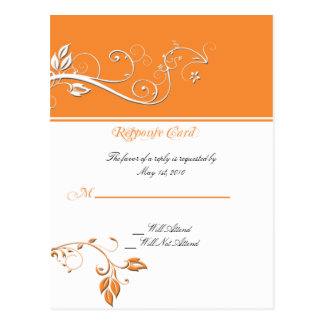 Always and Forever Response Card Orange Postcard