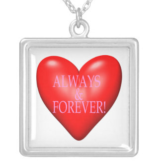 Always And Forever Silver Plated Necklace