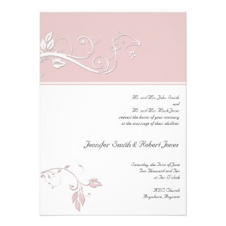 Always and Forever Sweet Pink Custom Invitations