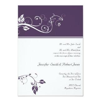 Always and Forever Violet Invitation