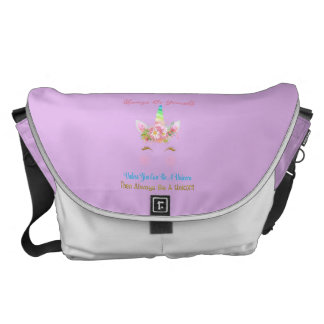 Always Be A Unicorn Messenger Bag
