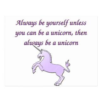 Always be a Unicorn Postcard