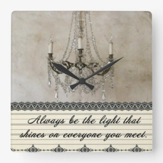 Always be the Light Square Wall Clock