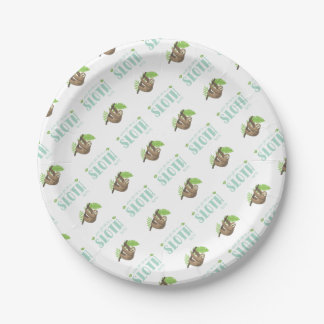 Always Be Yourself Unless You Can Become A Sloth Paper Plate