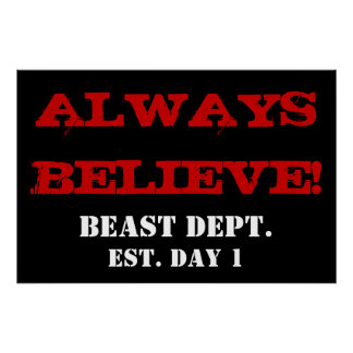 ALWAYS BELIEVE! Weightlifting Exercise Gym Poster