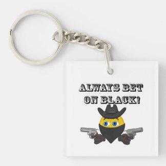 Always Bet On Black Acrylic Keychains