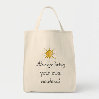 Always bring your own sunshine! grocery tote