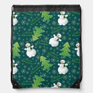 Always Christmas Fun Pattern Drawstring Bag