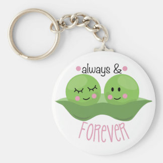 Always & Forever Basic Round Button Key Ring
